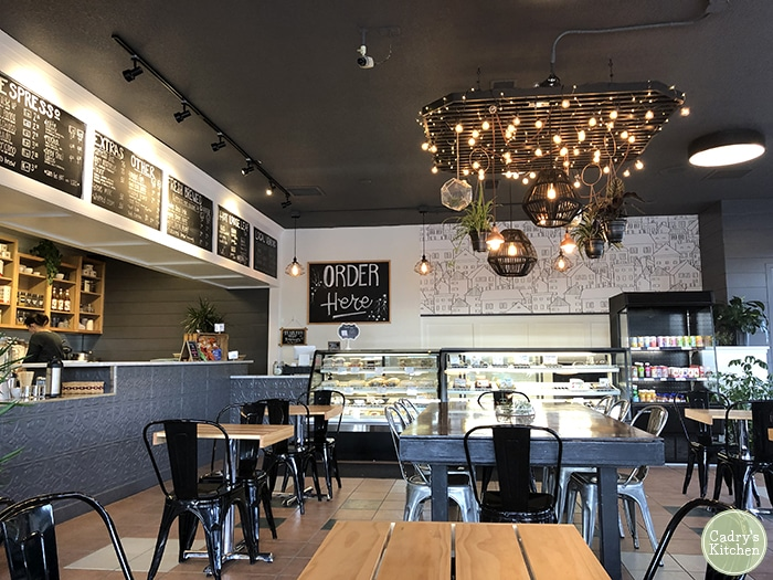 Interior Dodge Street coffeehouse.