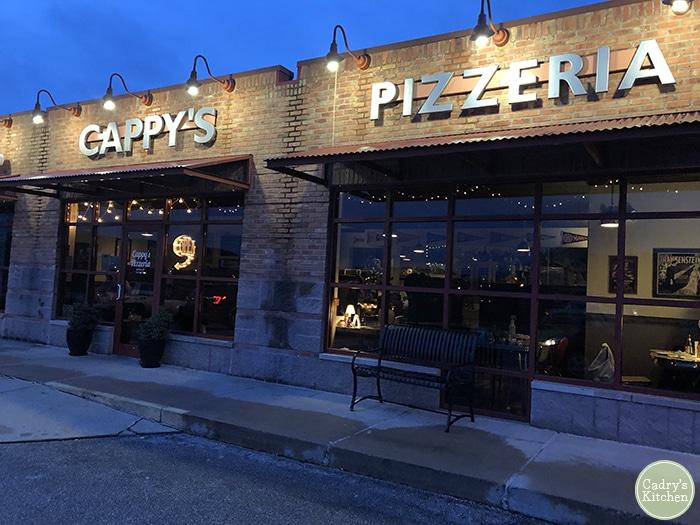 Exterior Cappy's Pizzeria in Cedar Rapids, Iowa.