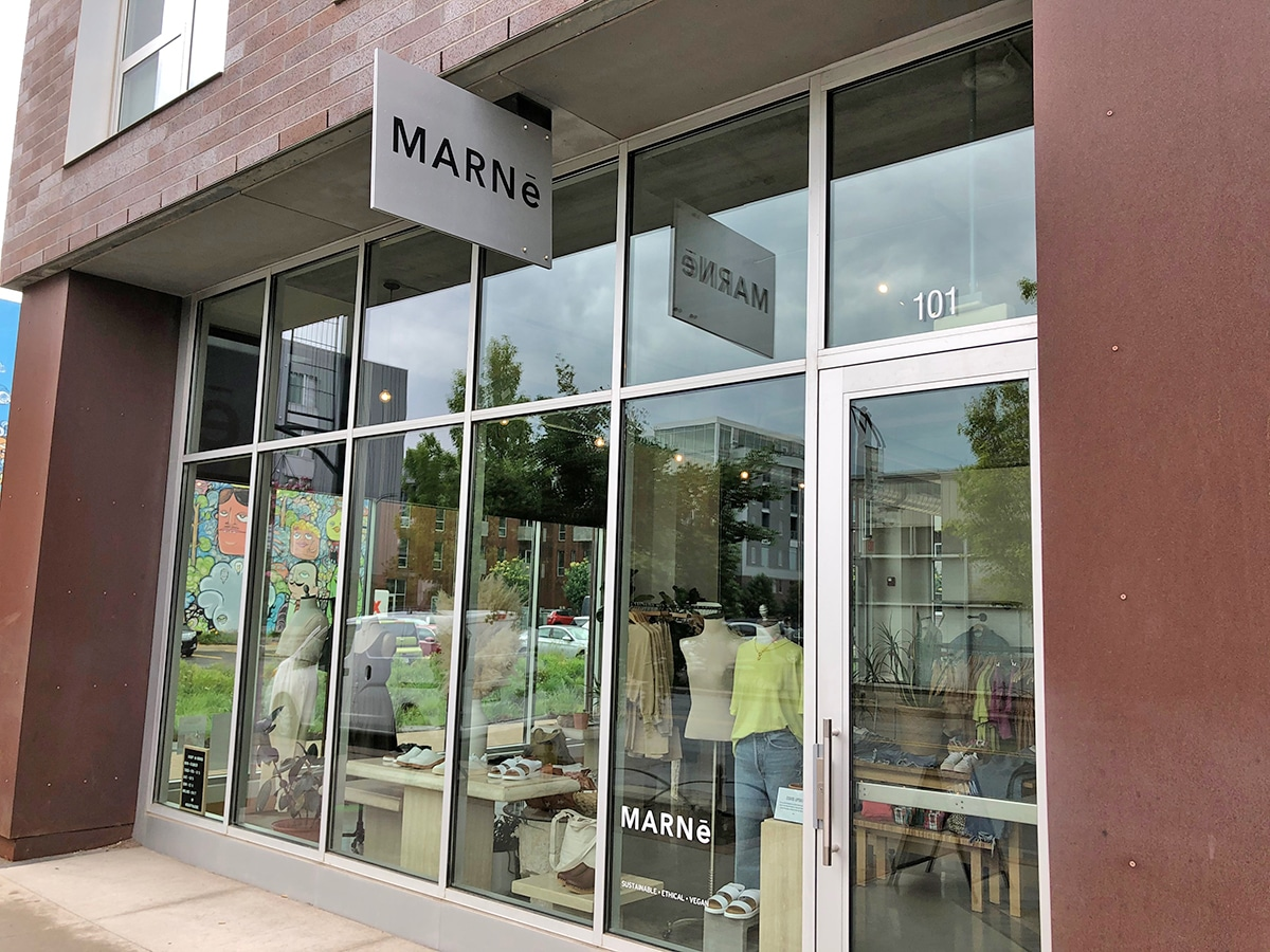 Exterior Marne clothing store.
