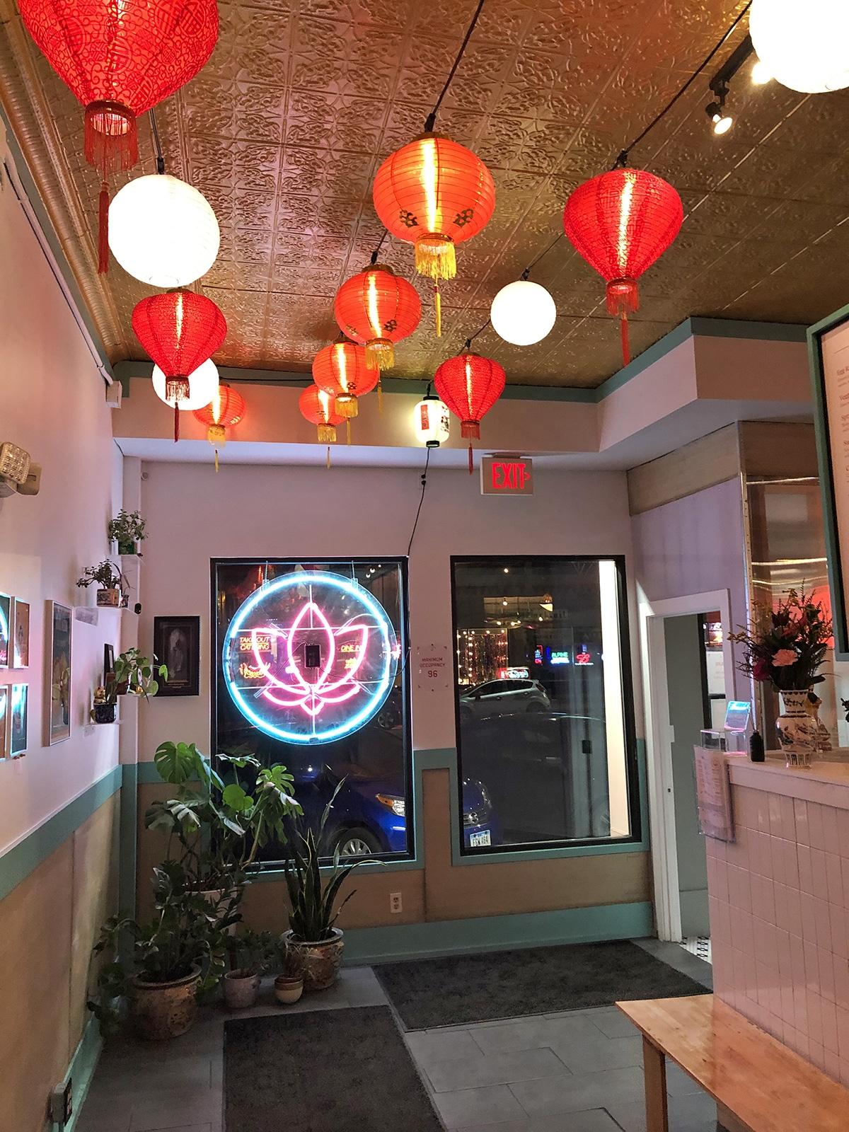 Interior Lucky Lotus in Des Moines, Iowa.