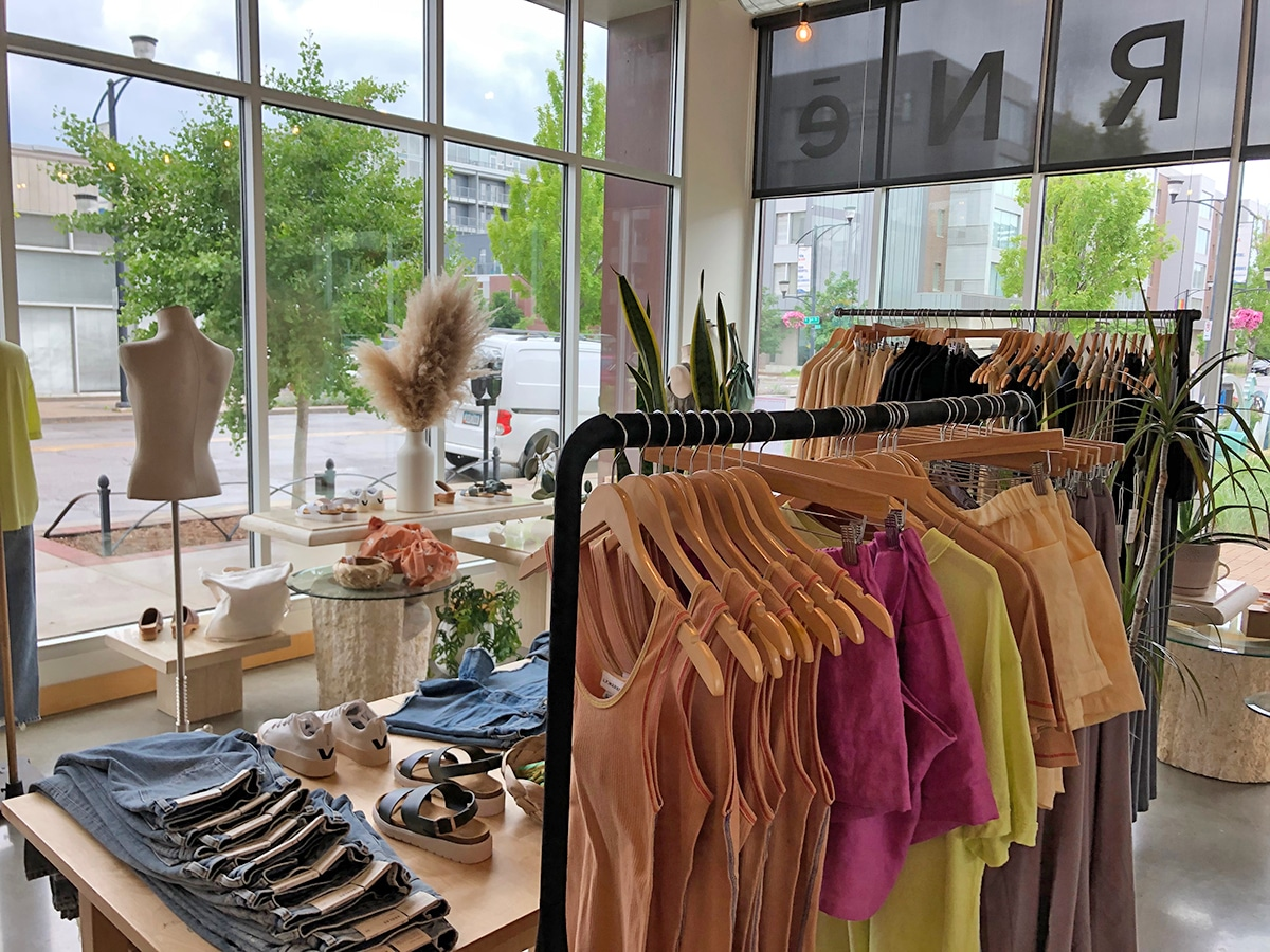 Interior Marne clothing store in Des Moines.