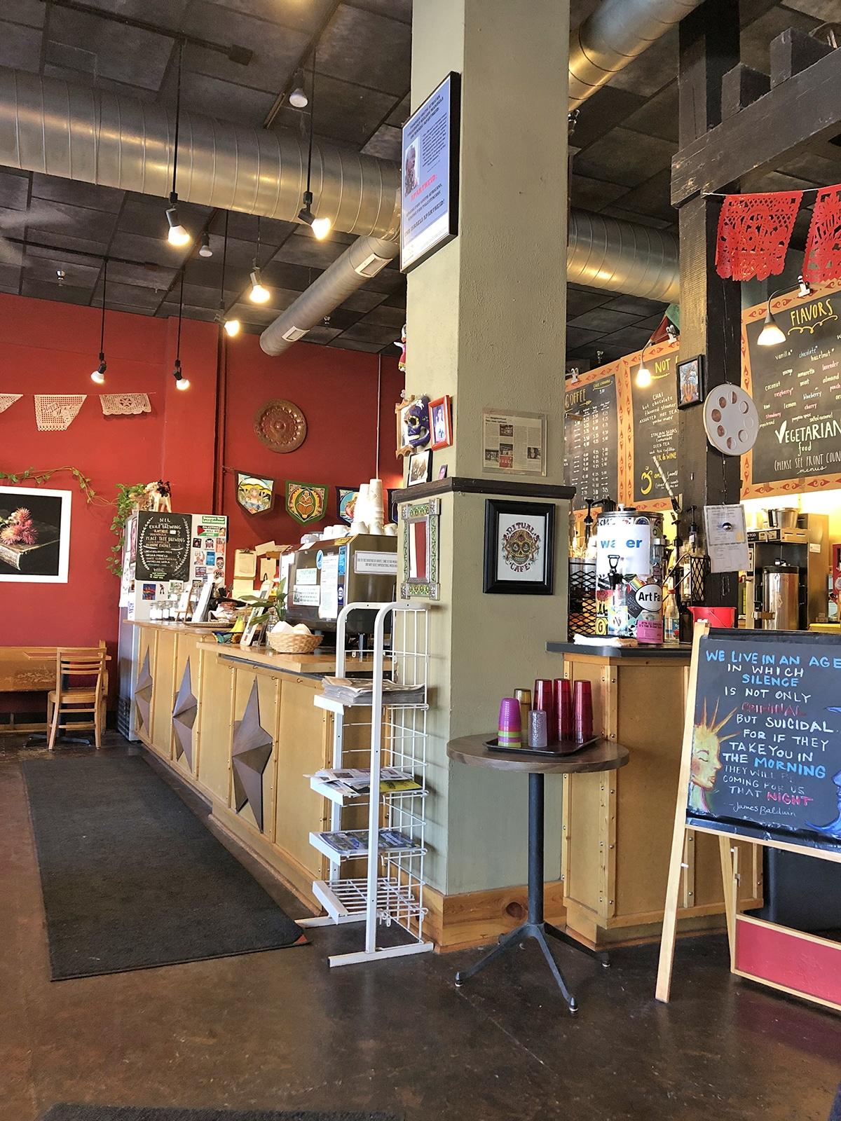 Interior Ritual Cafe in Des Moines, Iowa.