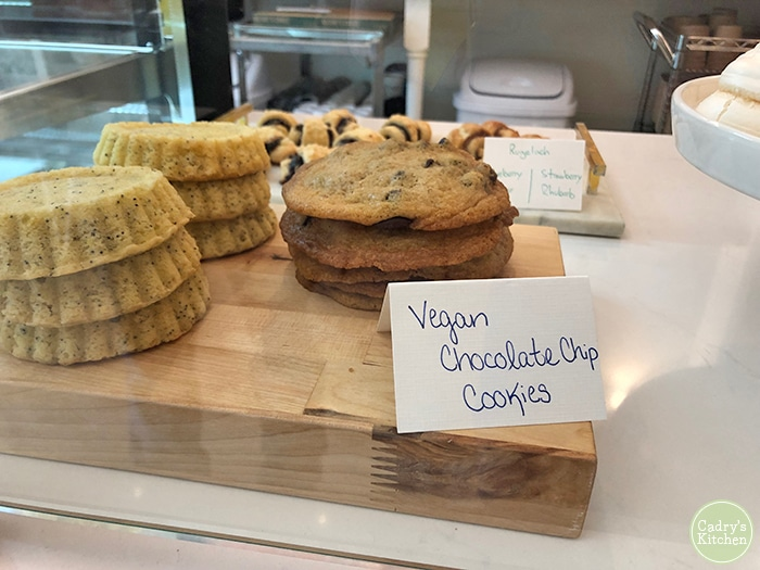 Vegan chocolate chip cookies at Farm Shed in Cedar Falls, Iowa.