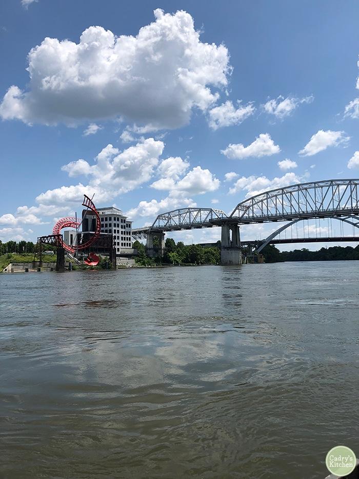 Bridge & river in Nashville.