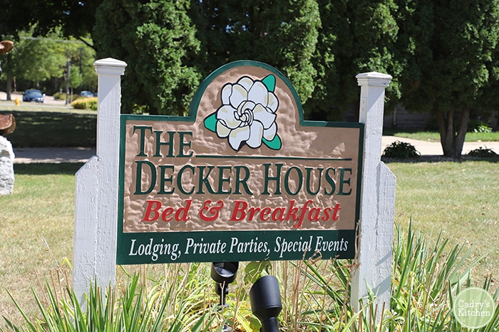 Decker House Bed & Breakfast sign