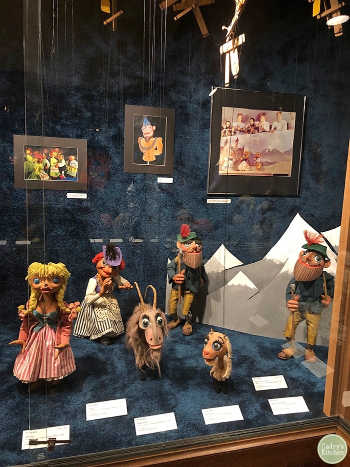 Bil Baird puppets from the Sound of Music on display.