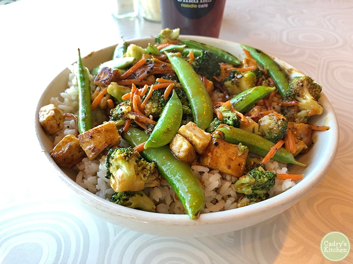 Thai stir-fry in bowl at Z'Mariks.