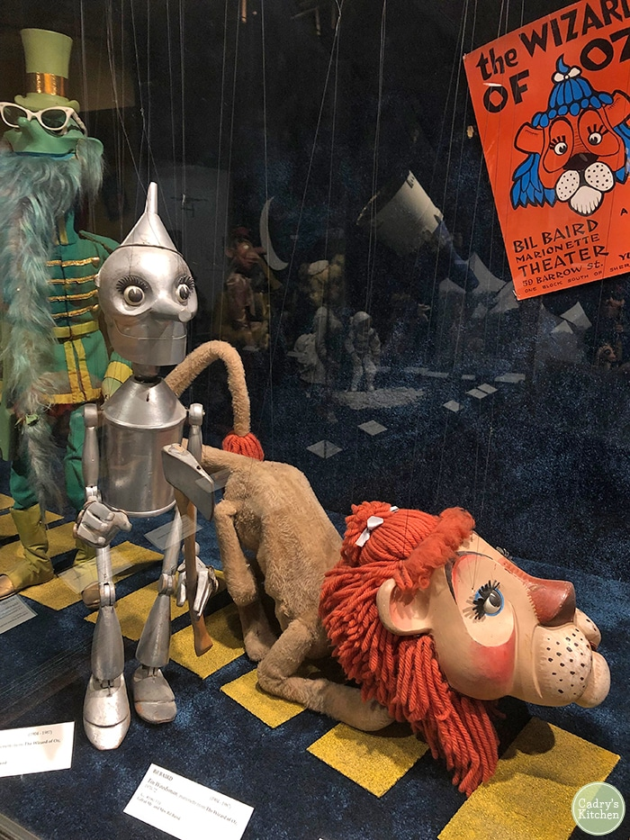 Bil Baird's Wizard of Oz puppets on display.