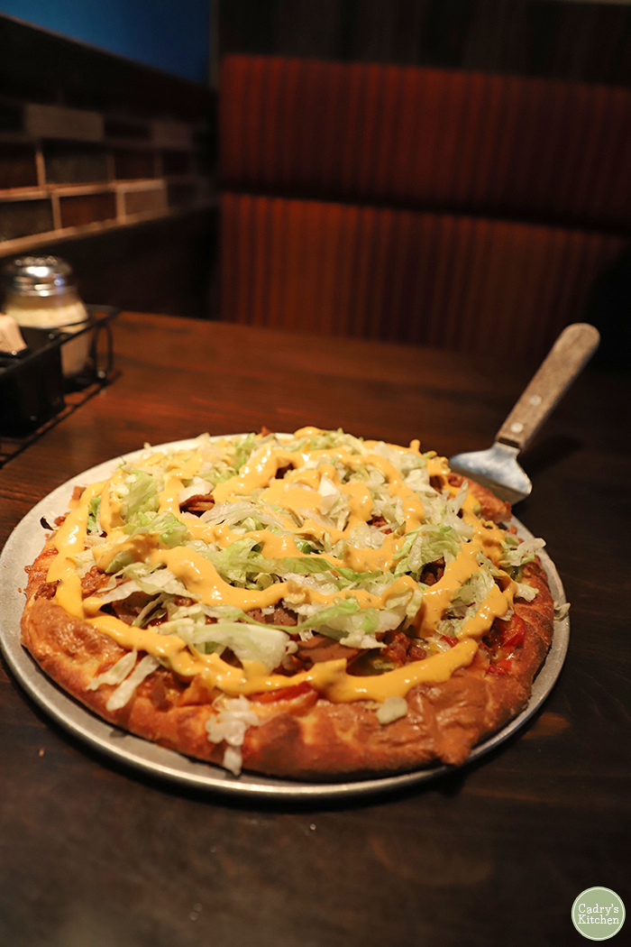 Cheeseburger pizza at Pizza Luce.