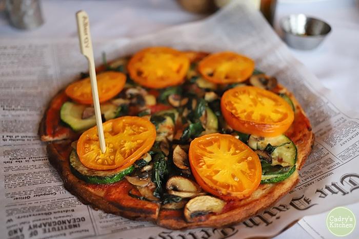 Vegetarian flatbread pizza at 1776.