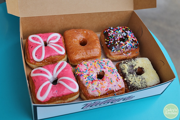 Open box of donuts at Valkyrie.