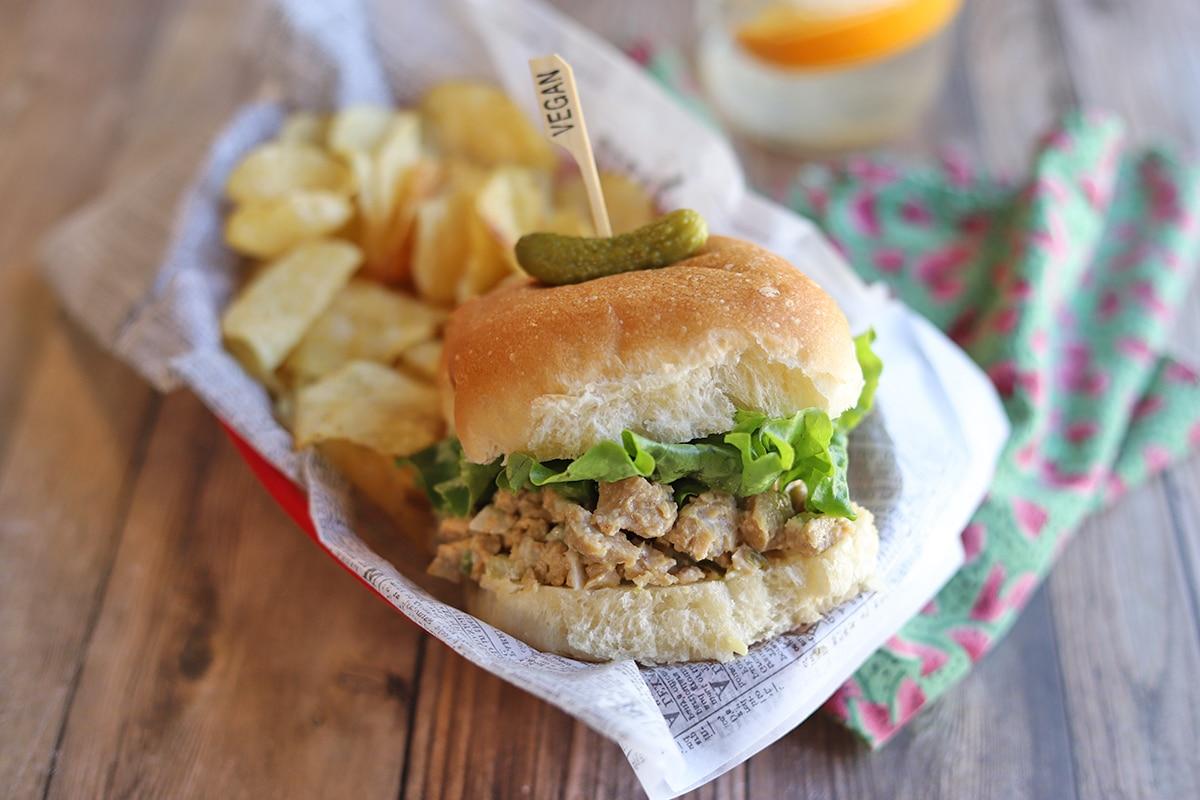 Vegan Chicken Salad Sandwich With Seitan Cadry S Kitchen